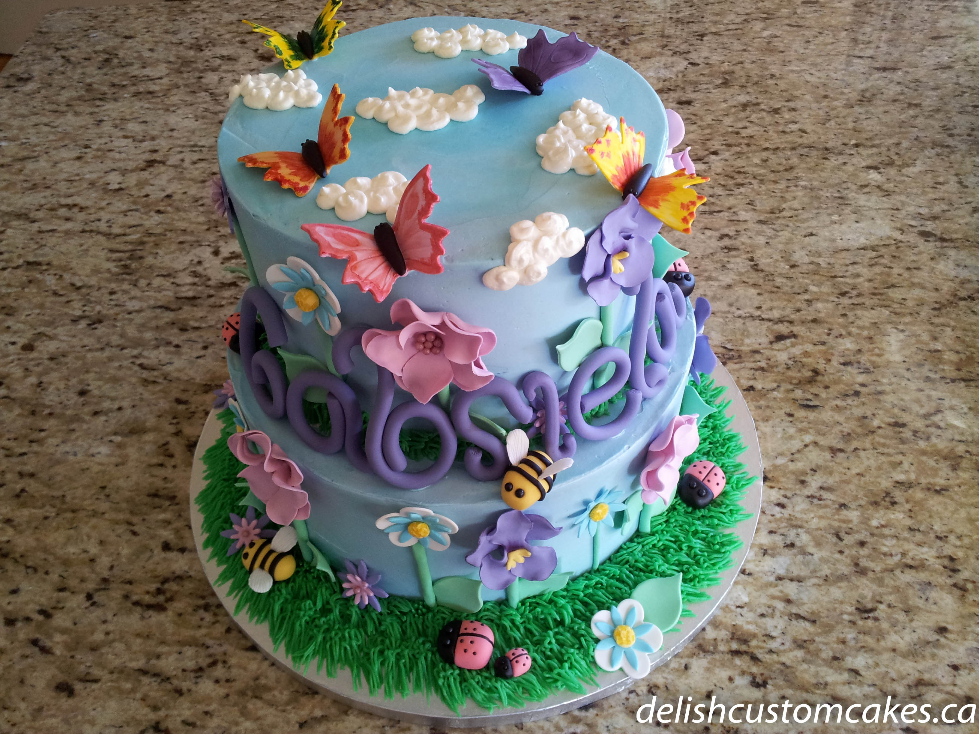Flowers And Bugs Delish Custom Cakes