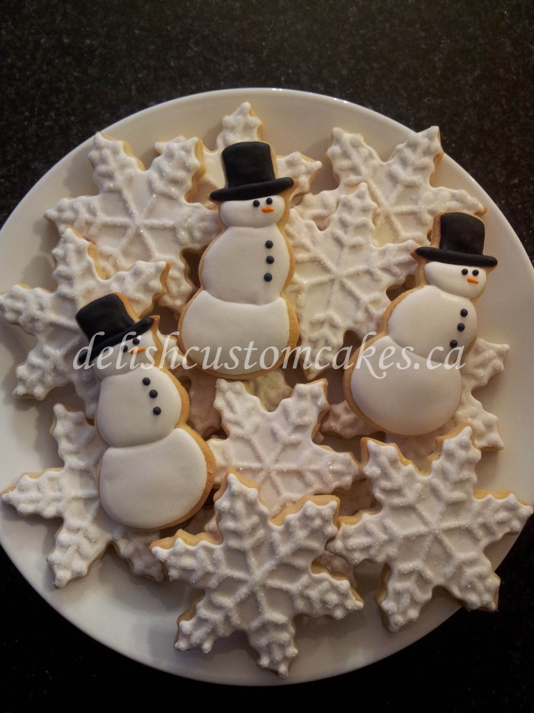Snow sugar cookies